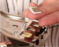 3 en 1 SIM Cutter mobile carte de téléphone de coupe de carte de lecteur pour les i6s bord iphone samsung couper lecteur de nano trois étriers de couverts