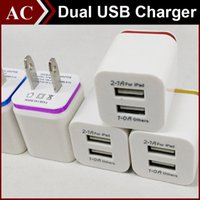 2A Universal Square Metal Wall Charger US EU Plug Dual Color...