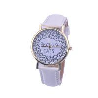 Wholesale- Bracelet Watch Montre Femme BECAUSE CATS Leather B...