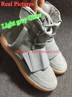 "TOP Version Real Photos Kanye West YZY 750 Boost "" Light..."