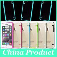 Resplandor en el caso luminoso de lujo oscuro para iPhone4S 5S 5C TPU suave caso transparente Transparente Contraportada para iPhone6 6S más Samsung S7
