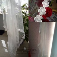 Real Image Stunning Hot Sale Wholesale Veils White Ivory Sho...