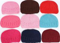 Children Girls Newborn Baby Beanies Hats Caps Knitted Girls ...
