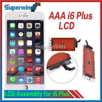 Grade AAA Qualité iPhone 6 Plus Écran LCD Écran tactile Numériseur Full Assembly iPhone 6 plus 5,5 pouces Ensemble complet Livraison gratuite