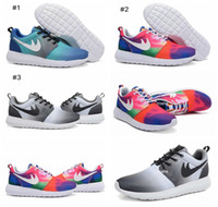 2016 New Roshe Run Print Eclipse Black Grey White Rainbow Oc...