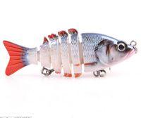 Рыболовное снаряжение Многосекционная приманка для приманки имитация жесткой приманки Рыболовная приманка Bait Crank Bait 3D глазами Рыболовные инструменты с крючком Бесплатная доставка