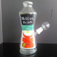 bong de verre bon marché profiter de minutes bourgeons tuyau d'eau de 14.4mm de jus de pomme clair pour choisir la livraison gratuite