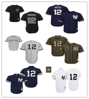 Wholesale NY Yankees #12 Wade Boggs Throwback 1996 White Str...