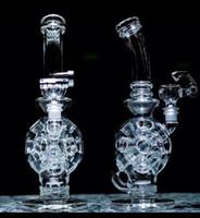 14hole 2016New verre Bong Oil Rigs verre design Eggosphere combo de sphère avec Fab