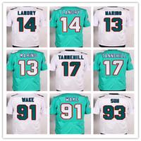 Men Miami #Custom Elite Football Dolphins Jerseys #13 Dan Ma...