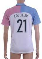Customized 16- 17 European Cup France 21 KOSCIELNY Soccer Jer...