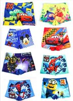 Hot Children Baby Boy minions spiderman Swim trunks Beachwea...