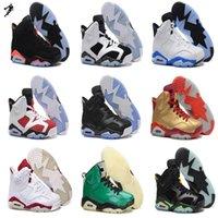 2016 Cheap Air 6 Retro VI Basketball Shoes White Infrared 23...