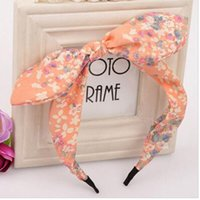 2016 New Floral Flowers Hairband Fabric Butterfly Bow Knot H...