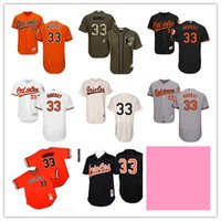 New Baltimore Orioles Jersey Black cream Throwback #33 Eddie...