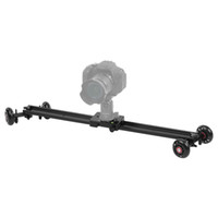 Andoer 60 centimetri 4 Ruote Soundless Video Rail Track pattinatore Slider Dolly Tabella auto stabilizzatore per Canon Nikon Sony DSLR videocamera DV D4345