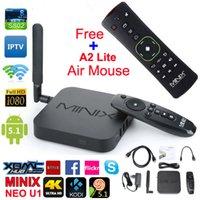 MINIX NEO U1 TV Box 4K UHD Kodi 16 Quad Core Amlogic S905 2GB RAM Android 5.1 Dual Band Wi-Fi Google TV Media Player + A2 облегченный Air Mouse