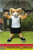 MALL148 Custom Sport Anime Costumes Goat Sheep RAM Mascot Co...