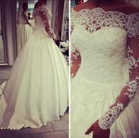 2016 Plus Size Wedding Dresses Vestido de novia Ball Gown Ne...
