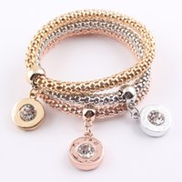 3PCS Lot Crystal Round Gold Plated Charms for Bracelets Wome...