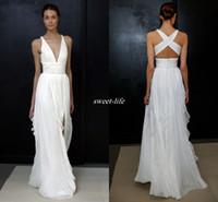 Оболочка 2017 года Свадебные платья для греческой богини простых Невесты одевают Продажа Дешевые Длинные плиссированные Сплит полную длину Gowns Юбка Bohemian Boho Свадебные