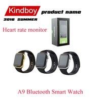 2016 A9 Bluetooth montre Smart Watch avec moniteur de fréquence cardiaque pour Apple iWatch iPhone Samsung Android IOS Smart Phone Montre MTK2502C DZ09