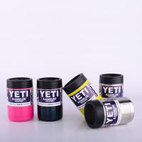 12OZ красочные YETI чашки из нержавеющей стали 10 цветов 1: 1 YETI охладители Rambler Тумблерные автомобильные чашки путешествия спортивные кружки