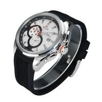 Tierxda 6077G Sport Mens acier inoxydable Quartz analogique montre-bracelet 6077G