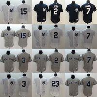 Men' s Elite Version New York Yankees #2 Derek Jeter #4 ...