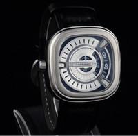 Melhor qualidade de couro Stripe Sete sexta-feira Business Watch Em Negócios De Luxo Marca Moda Homens Mulheres Sevenfriday Relógios Original Box