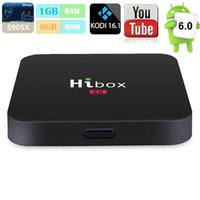 Hibox H1 Android 6. 0 Amlogic S905X Quad core Set top box 1G ...