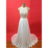 Fashion white Evening Dresses Jewel Sleeveless Tulle Backles...
