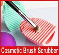 Brushegg Очистка перчатки MakeUp Щетка для мытья скруббер Совет Косметические Brushegg Косметические кисти Яичные 5 цветов Чистые инструменты Горячие