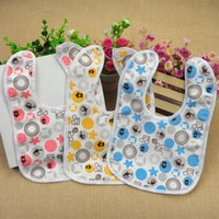 3- layer Cotton Baby Waterproof Bib Baby Feeding baby clothes...