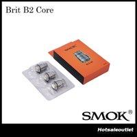 Authentic Smok Brit B2 de base de remplacement de bobine pour SMOK Brit 3PCS Sub Tank in One Pack Kanthal bobine double 100% Original
