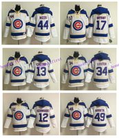 Chicago Cubs Hoodie 44 Anthony Rizzo Jersey 17 Kris Bryant 3...