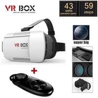 2016 Google Картон VR BOX Pro версия VR Виртуальная реальность 3D очки + Смарт Bluetooth Беспроводная мышь / геймпад Пульт дистанционного управления
