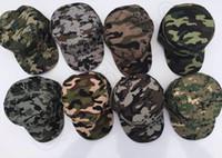Мужской Модный камуфляж бейсболки солнцезащитный козырек Женщины Мужчины армии Военные Hat Cap Спорт 8 цвет LJJQ390