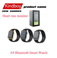 A9 Bluetooth montre Smart Watch avec moniteur de fréquence cardiaque pour Apple iWatch iPhone Samsung Android IOS Smart Phone Montre MTK2502C DZ09