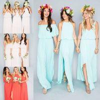 2016 Cheap Bohemian Bridesmaid Dresses Wedding Guest Wear V ...