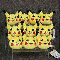 8cm Anime Poke Pikachu Open Mouth keychain Pendant Plush Sof...