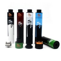 E Cig Tugboat V2.5 Start Kit 5 avec remorqueur RDA Remorqueur V2.5 Copper Mod 24mm Diamètre Magnetic Button fit 18650 510 Battery Free Ship