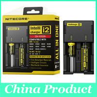 100% Original Nitecore i2 Intellicharge Cargador de batería universal Carga inteligente para 26650 22650 18650 18490 18350 14500 16340 AA AAA