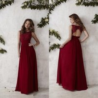 Burgundy Bridesmaid Dresses 2017 Summer Long Style Sleeveles...
