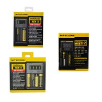 100% Original NITECORE NEW I2 I4 D2 LCD DigiCharger Chargeur universel intelligent Pour 18350 18650 26650 batteries