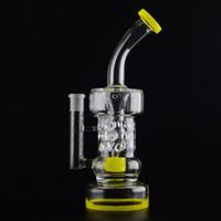 G34 26cm Nouveau verre Bong Pipe d'eau Moyen Partie filtre et Hold EASY Couleur Bague bas et le haut peut être personnalisé couleur