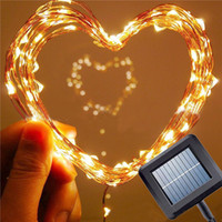 10M 100Leds Solar Copper Wire String Light Outdoor Waterproo...