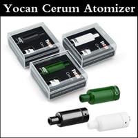 Autnentic Yocan Cerum Форсунка Полный керамический Воск Испаритель с запасными Кварц Dual ППЭС Coil клон подходят 1100mAh Evolve Plus Аккумулятор 3-х цветов