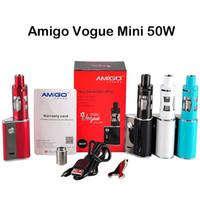 Оригинальные Amigo Itsuwa Vogue Mini Kit 50W E комплекты сигарет Портативный Box Mod с мини-Vega Танк Atomizer 1500mAh Встроенный аккумулятор