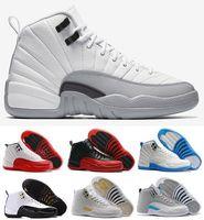2016 air retro 12 12s XII man Basketball Shoes ovo white GS ...